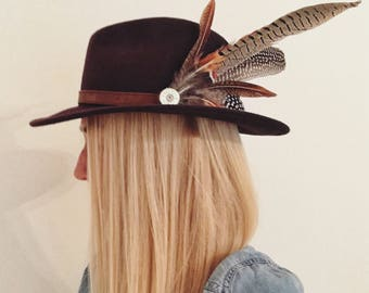 383d5c83 Feather & Cartridge Hat Pin or Brooch - CUSTOM