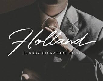Handwritten font download, Digital font, Handwriting font, Signature font, Skinny font, Instant downloadable font