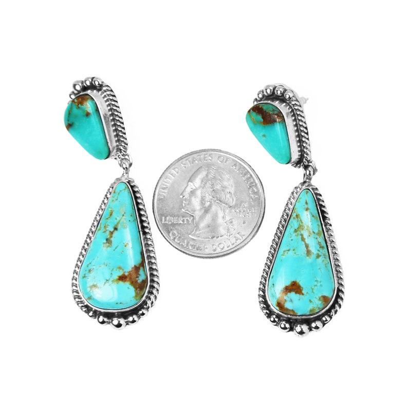 Kingman Turquoise Drop Earrings