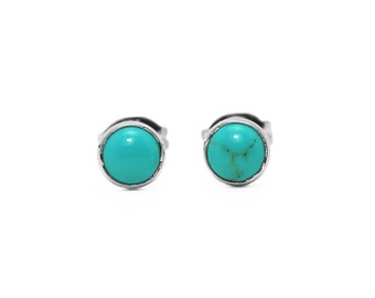 Turquoise Cabochon Post Earrings
