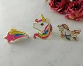 Rainbow Unicorn Pins