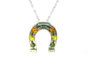 925 Sterling Silber Glücksanhänger Pferd Hufeisen   Etsy