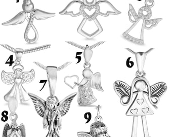 Various choices elegant Angel 925 Sterling Silver Jewellery Necklace Snake Chain  angel wings Pendant  features a selection  finest quality