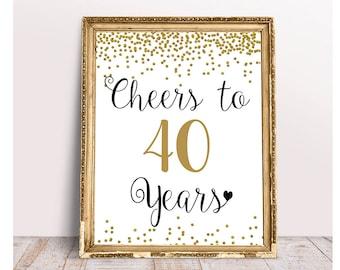 40th anniversary etsy