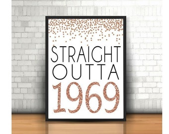 50th Birthday Cheers To 50 Years Happy Sign Anniversary Rose Gold Party Decoration1969