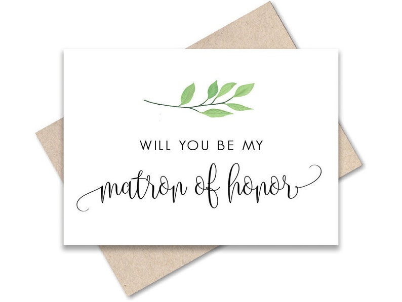 Waverly Wedding Card Will You Be My Bridesmaid Greenery Will You Be My Matron of Honor Card Printable Instant Download Greeting Card