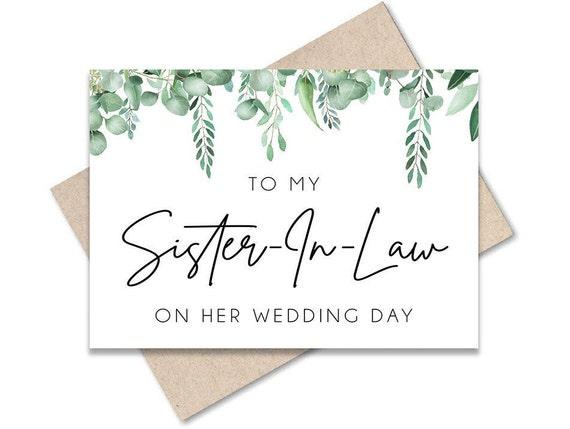 Wedding Card for Sister Wedding Day Card Wedding Card for Bride