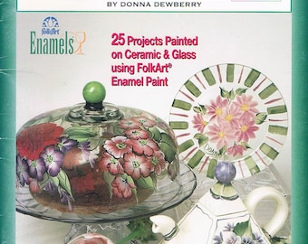 One Stroke Painting/Glorious Glass & Ceramics/Donna Dewberry/Book 9698/2002