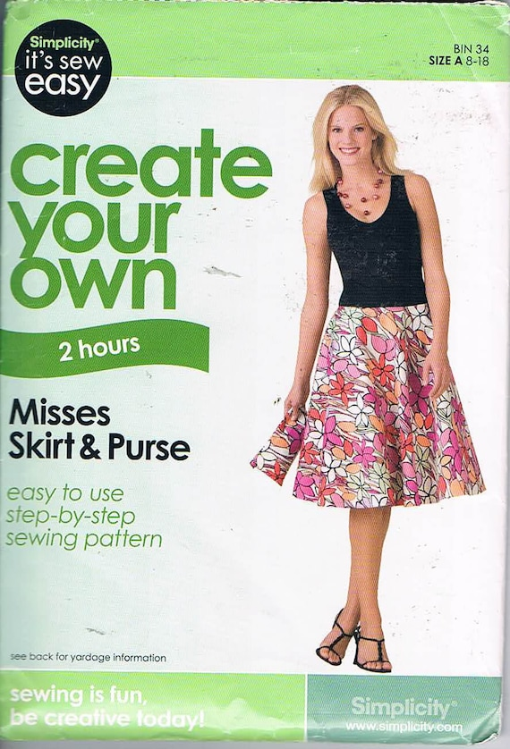 Simplicity It\'s Sew Easy/Create Your Own/Misses Skirt and | Etsy