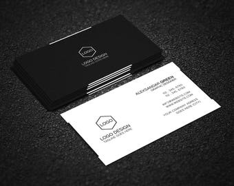 Free psd file etsy business card free edit professional design photoshop editable instant download template colourmoves