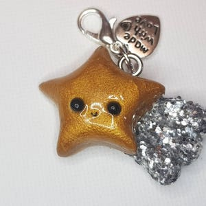 Necklace Planner Charm Polymer Clay Jewellery EPGreen09 Pokemon Star