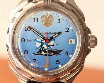 Vostok Admiralskie Komandirskie Fleet Waterproof Man's Watch made in USSR