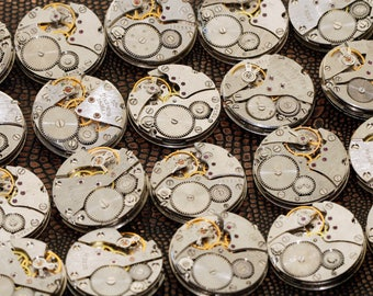MECHANISMS Movements Men's 26 mm Watch 500pcs Parts Steampunk Arts Handmade