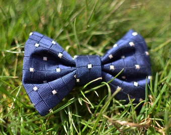 Square Silk Dog Bow Tie