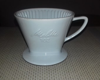 Origina Melitta 102 coffee filter plastic for hand brewed coffee cold brewed coffee Germany Vintage