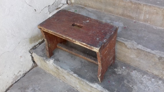 Astonishing Antique Wood Bench Rustic Wood Step Stool Distressed Bench Primitive Foot Stool Antique Style Bench Vintage Small Bench Squirreltailoven Fun Painted Chair Ideas Images Squirreltailovenorg