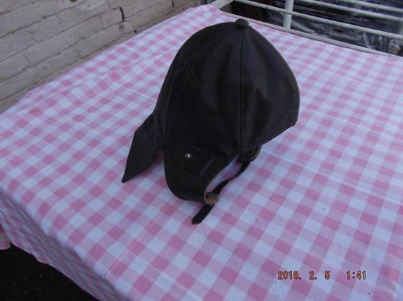 Helmet,Leather Motorcycle helmet, Vintage brown l… - image 10