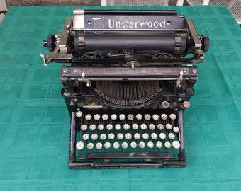 Gorgeous antique Underwood 5 typewriter, Antique typewriter, desktop typing machine, Underwood standard typewriter no. 5,  office decor