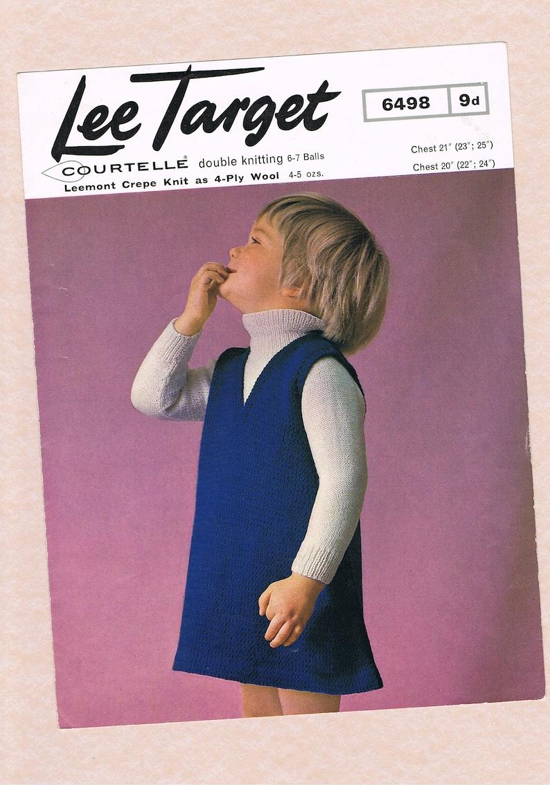 daeef69a8 Original Vintage Lee Target Girls Clothes Knitting Pattern