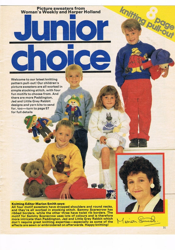 Womens Weekly Knitting Pattern Pull Out Junior Choice Childrens