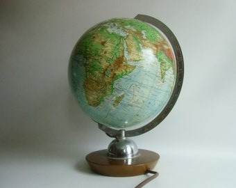 Globus Lampe Etsy