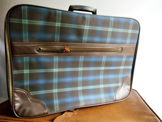 GDR Vintage Suitcase Plaid - Vintage Suitcase - 70