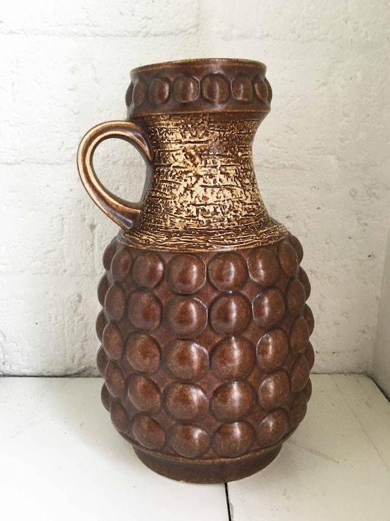 Jahrgang Westdeutschland Vaas Keramik Blase Vase Markiert Etsy