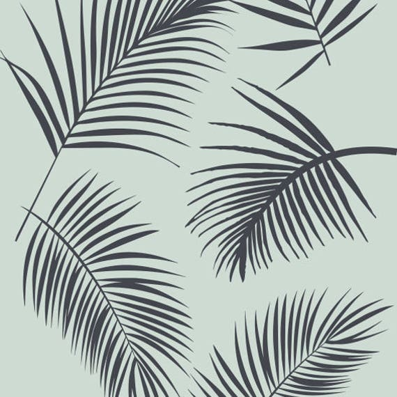 Palms Wallpaper Laser Cut Stencil Decorative Vector Laser Cut Template Repeating Pattern Vector Stencil Decorative Files
