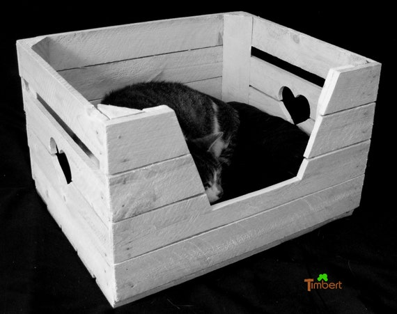 panier chat vintage pont coussins en bois pour chat chien chat animaux de compagnie lit d un. Black Bedroom Furniture Sets. Home Design Ideas