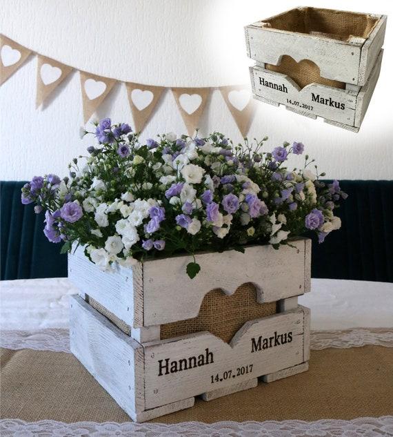 Tischdeko Blumenkiste Hochzeitsgeschenk Vintage Hochzeit Etsy