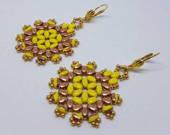 Sunflower Earrings, Yellow Earrings, Spring Summer Jewelry, Floral Earrings, Colorful Earrings, Spring Earrings, Summer Earrings, Sunflowers