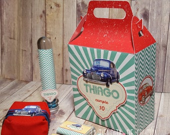 Full Party Box - Candy Bar and Deco for 20 boys