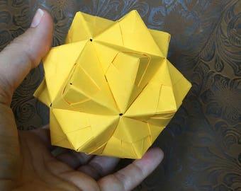 Origami Ball, Modular in Yellow