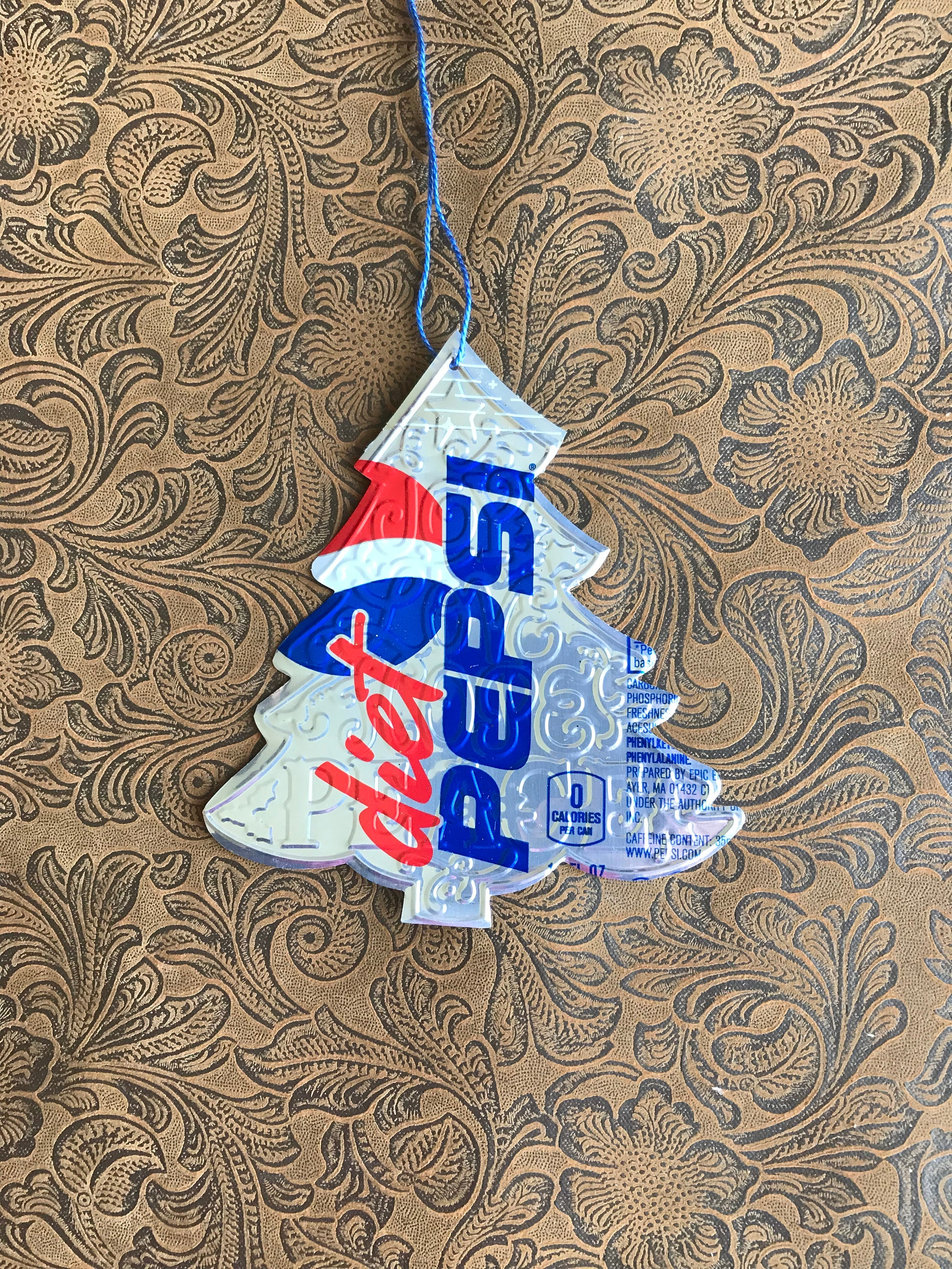 Christmas Tree Ornament using Diet Pepsi Soda Can Soda Can | Etsy