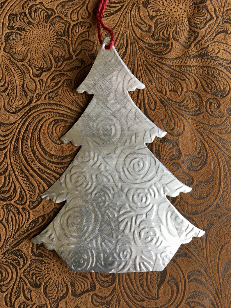 Awareness Ribbon Christmas ornament From a Dr Pepper Aluminium Can