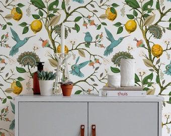 Removable Wallpaper Scandinavian Wallpaper Temporary Wallpaper Vintage Wallpaper Peel and Stick Wallpaper Wall Paper - A630