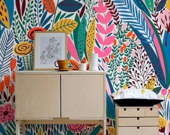 Removable Wallpaper Scandinavian Wallpaper Temporary Wallpaper Minimalistic Wallpaper Peel and Stick Wallpaper Wall Paper - A613