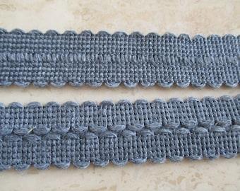 fabric 1 meter plaited grey preplie tassel 3 cm border cape coat