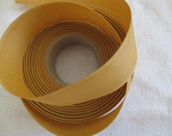 Ribbon grosgrain mustard yellow in 2.3 cm wide
