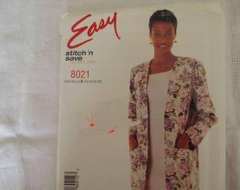 jacket and dress pattern size 44, 46,48, MC CALL 50's