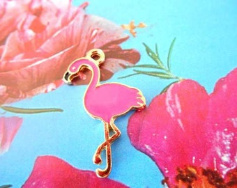 x 1 charm pendant Flamingo Pink.