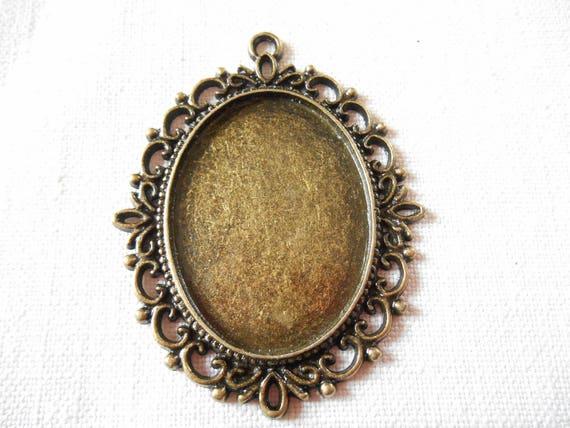 6 anillo materiales en Antik bronce