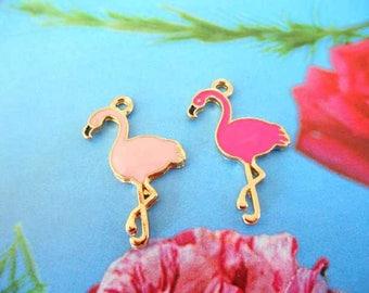 Pink x 2 Flamingo charms.
