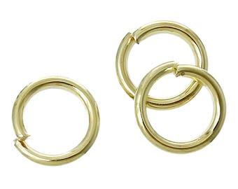 30 8 mm round golden rings.