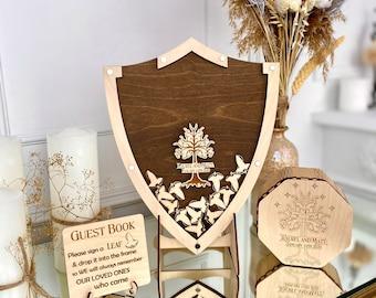 Wedding guestbook alternative, Hobbit gift, wedding guestbook gift