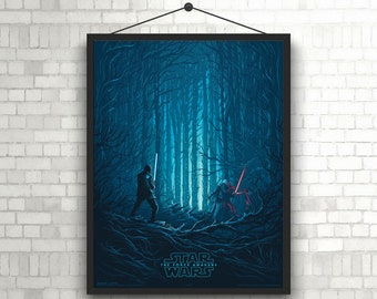 Star Wars Episode VII The Force Awakens Artwork  Minimal Poster