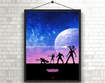 Guardians of the Galaxy Minimal artwork alternative Poster