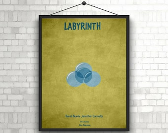 Labyrinth minimal artwork poster