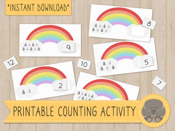 Printable Rainbow Counting Busy Bag Activity for Preschoolers