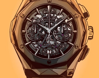 Hublot Watch Print
